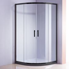 Curved Rapid Glass Sliding Shower Screen