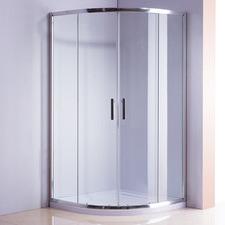Curved Titan Glass Sliding Shower Screen