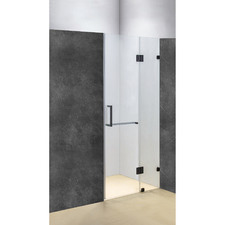 Black Prime Glass Shower Screen with Square Handle