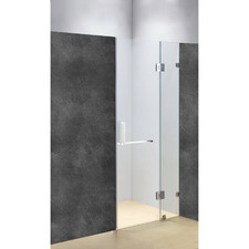 Chrome Prime Glass Shower Screen with Square Handle