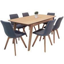 6 Seater Alexandria Extendable Dining Table & Chairs Set