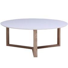 White Aura Round Coffee Table