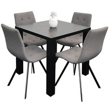 4 Seater Sophie Dining Table & Chairs Set