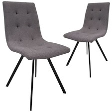 Grey Lunar Upholstered Dining Chairs (Set of 2)
