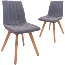 Grey Willow Upholstered Dining Chairs (Set of 2)