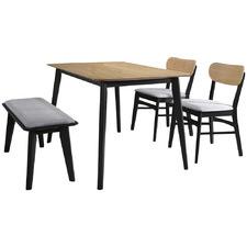 4 Seater Natural & Grey Tavistock Dining Set