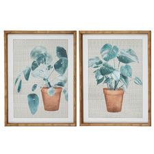 Bramble Framed Printed Wall Art Diptych