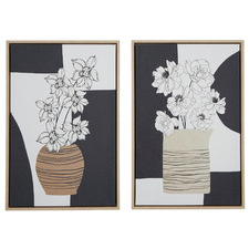 Ilana Framed Canvas Wall Art Diptych