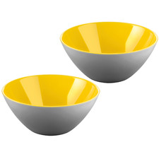 Yellow & Grey My Fusion 13cm Serving Bowls (Set of 2)