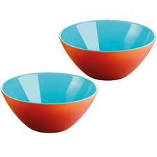 Sea Blue & Orange My Fusion 13cm Serving Bowls (Set of 2)