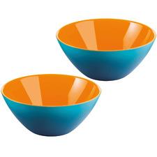 Orange & Sea Blue My Fusion 13cm Serving Bowls (Set of 2)