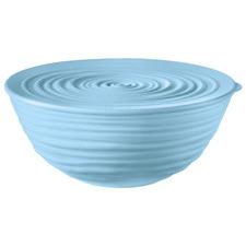 Powder Blue Guzzini Earth Serving Bowl with Lid