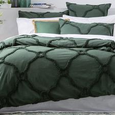 Leaf Moroccan Cotton Quilt Cover Set