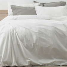 White Lorimer Cotton Quilt Cover Set