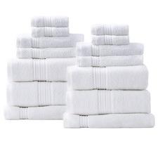 14 Piece Brentwood Cotton Bathroom Towel Set