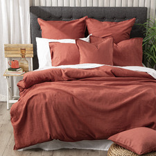 Paprika Cavallo Stone Washed Linen Quilt Cover Set