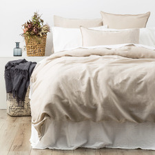 Natural Cavallo Stone Washed Linen Quilt Cover Set
