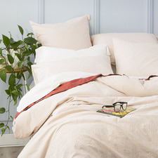 Clay Portofino Vintage-Washed Cotton Quilt Cover Set