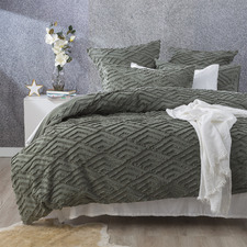 Forest Chevron Cotton Percale Quilt Cover Set