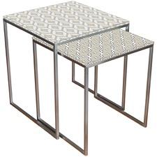 Cortona Glass Nesting Tables