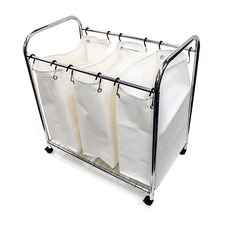 3 Divider Laundry Trolley Large