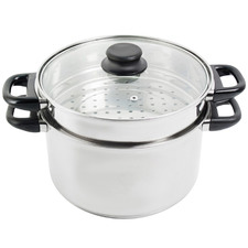 2 Piece 24cm Steamer & Stock Pot Set