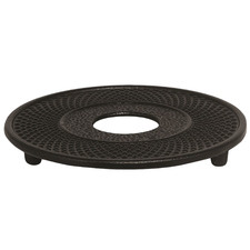Black Cast Iron Footed Trivet