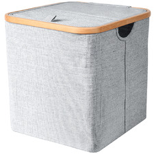 Square Bamboo Collapsible Laundry Basket