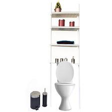 White Adjustable Toilet Storage Rack