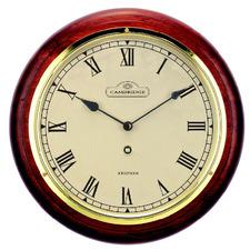 28.5cm Dark Brown Station Clock