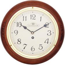 28.5cm Small Dark Brown Station Clock