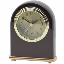Albert Gold Faced Wooden Table/Alarm Clock