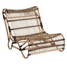 Soho Rattan Black Wrap Lounge Chair