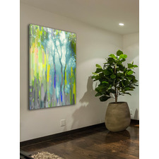 Painted Tree Forest Canvas Wall Art