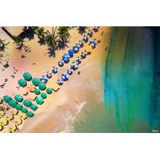 Umbrella Colors Canvas Wall Art