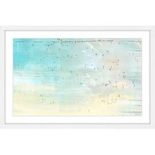Distant Beachgoers Framed Print