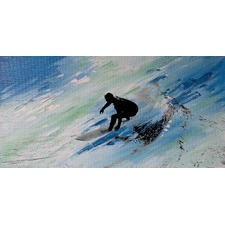 Downhill Swish Canvas Wall Art