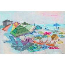 Beach Day Fun Canvas Wall Art