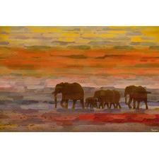 Herd Walking Art Print on Canvas