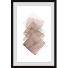 Five Brown Squares Framed Printed Wall Art