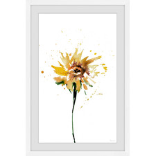 Sunflower Smudge Framed Printed Wall Art
