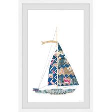 Beach Sailing Framed Printed Wall Art