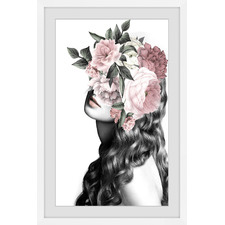 Curly Bloom Framed Printed Wall Art