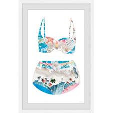 Coastal Beach Swimsuit Framed Printed Wall Art