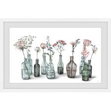 Bottles & Blossoms Framed Printed Wall Art
