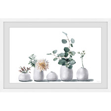 Simply White Framed Printed Wall Art