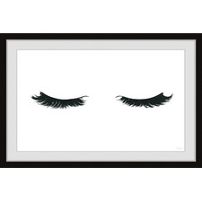 Curly Lashes Framed Printed Wall Art