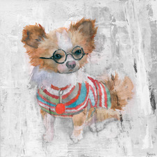 Charming Chihuahua Stretched Canvas Wall Art