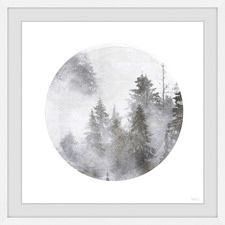 Misty Magical Forest Framed Printed Wall Art