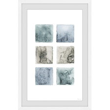 Dark Shaded Squares Framed Printed Wall Art
